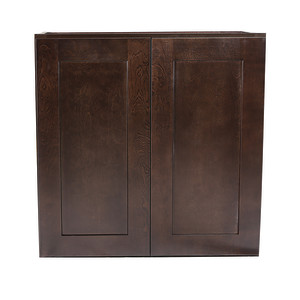 Brookings Ready to Assemble 24x36x12 in. Shaker Style Kitchen Wall Cabinet 2-Door in Espresso