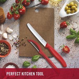 Victorinox, Swiss Classic Kitchen Knife- 2 Pcs Set,1 Knife & 1 Peeler in Black Colour. SPN-FOR1