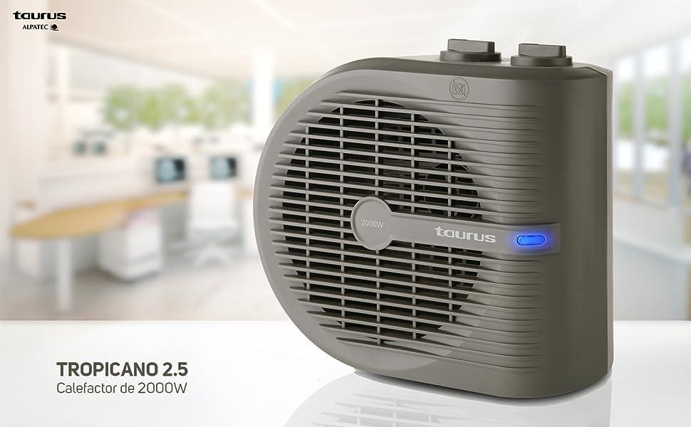 Taurus Tropicano 2.5 - Calefactor, termoventilador, 2 posiciones ...