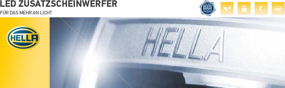Hella 1f3 011 815 011 Fernscheinwerfer Luminator Compact Led 12v 24v Ref 50 Anbau Kabel 3000mm Auto