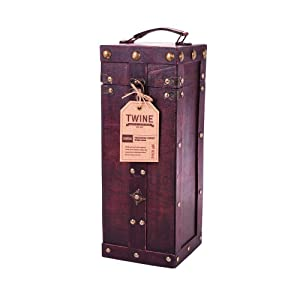 1 bottle antique wine box