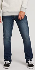 mens jeans slim stretch all day wear comfortable versatile pants denim fall winter long