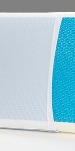 Cool gel pillow, memory foam pillow, reversible memory foam pillow, queen pillow, cooling pillow