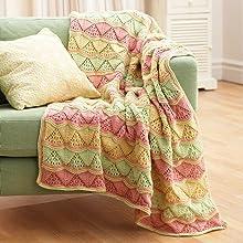 Bernat Super Value Knit Yarn Afghan Blanket