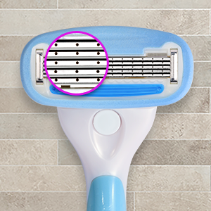 Amazon Solimo Women's 5 Blade razor for face legs armpits smooth shave refill cartridge