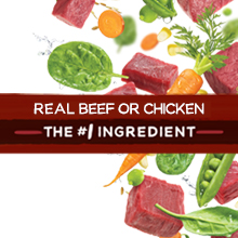 Real beef or chicken is the first ingredient