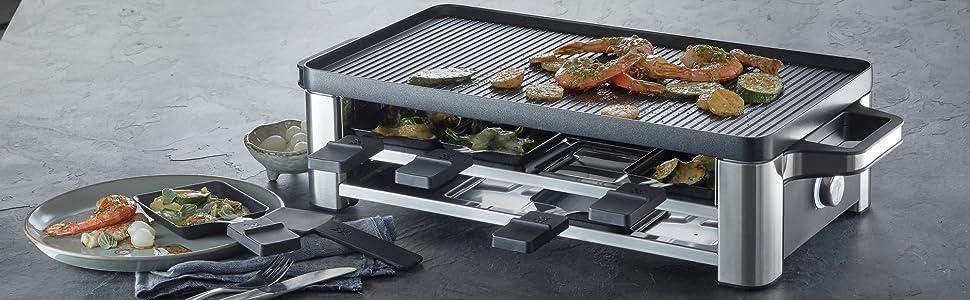 WMF Lono Parrilla Raclette y grill, 1500 W, Parrillas ...