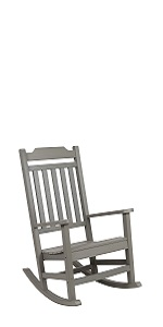 All-Weather Rocking Chair in Gray