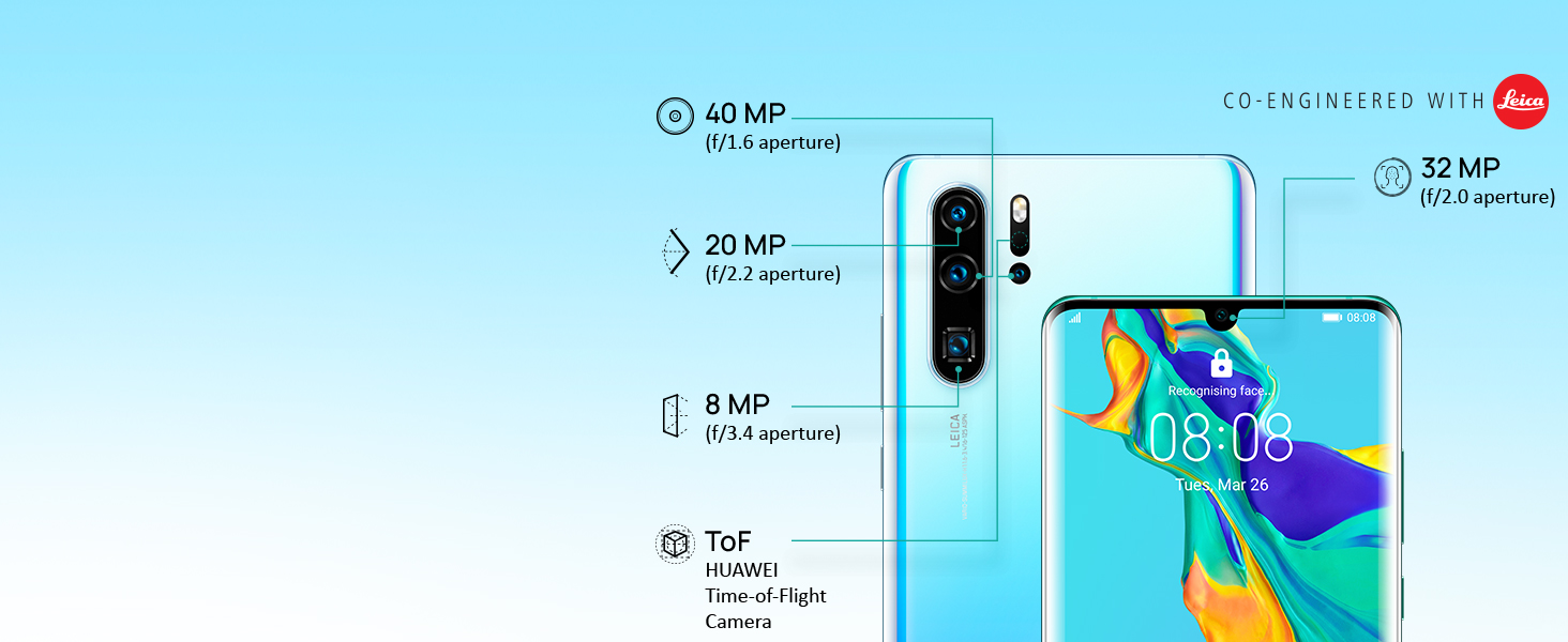 Huawei P30 Pro (Breathing Crystal, 8GB RAM, 256GB Storage)