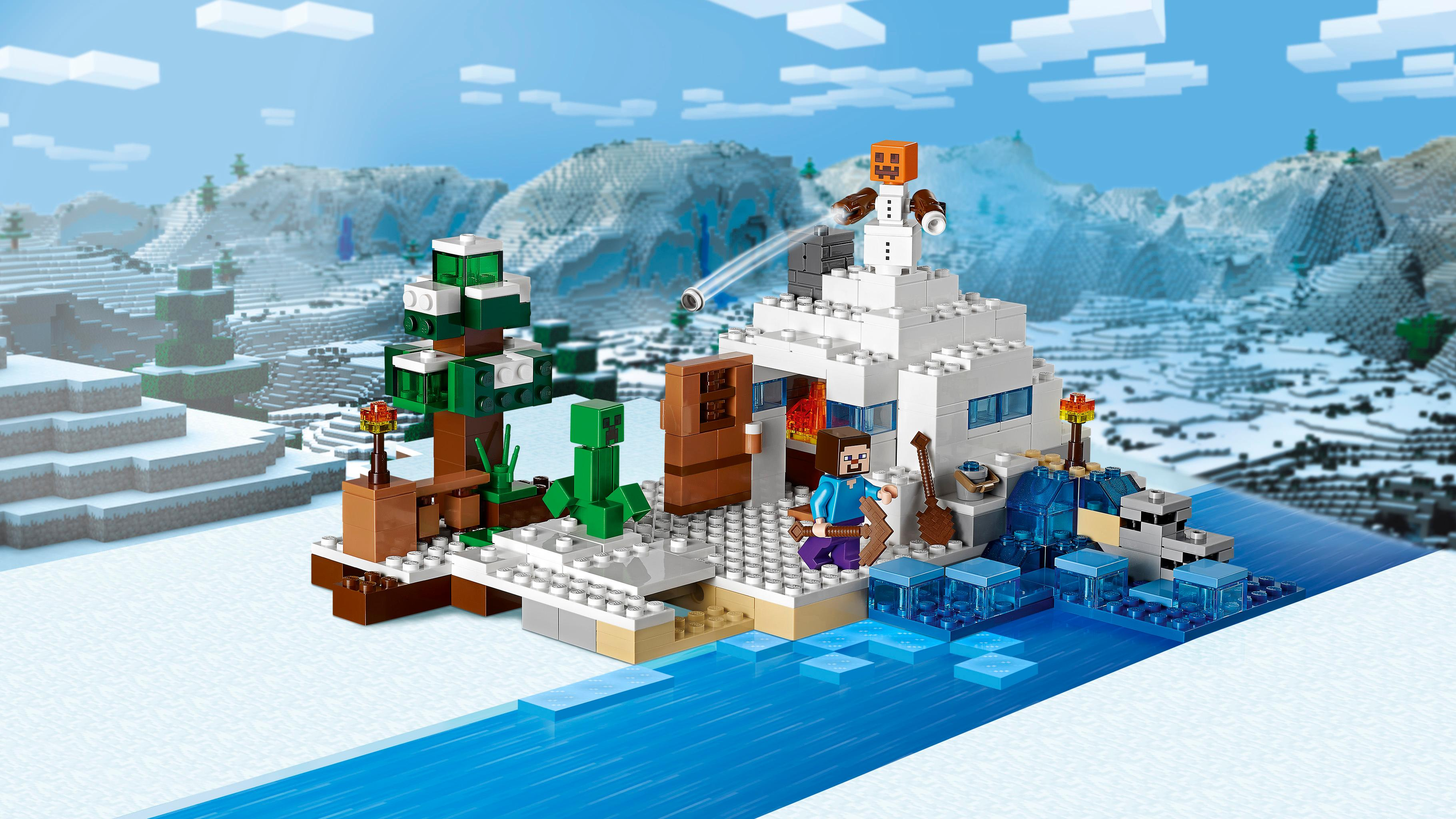 Lego Minecraft The Snow Hideout 21120 Minecraft Toy