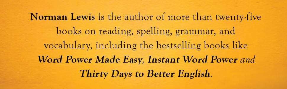 Word Power Made easy, Norman Lewis, Reading, Spelling, Grammar, Vocabulary, Better English