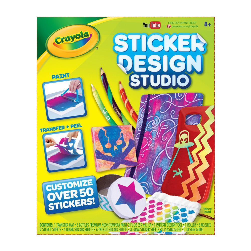 Crayola Sticker Design Studio Sticker Maker Gift For Kids Ages 8 9 10 11 12