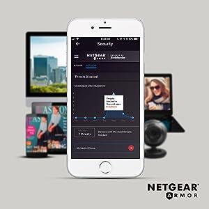 Netgear R7000 Router WiFi Nighthawk AC1900, Doble Banda, 4 Puertos Gigabit, protección Armor