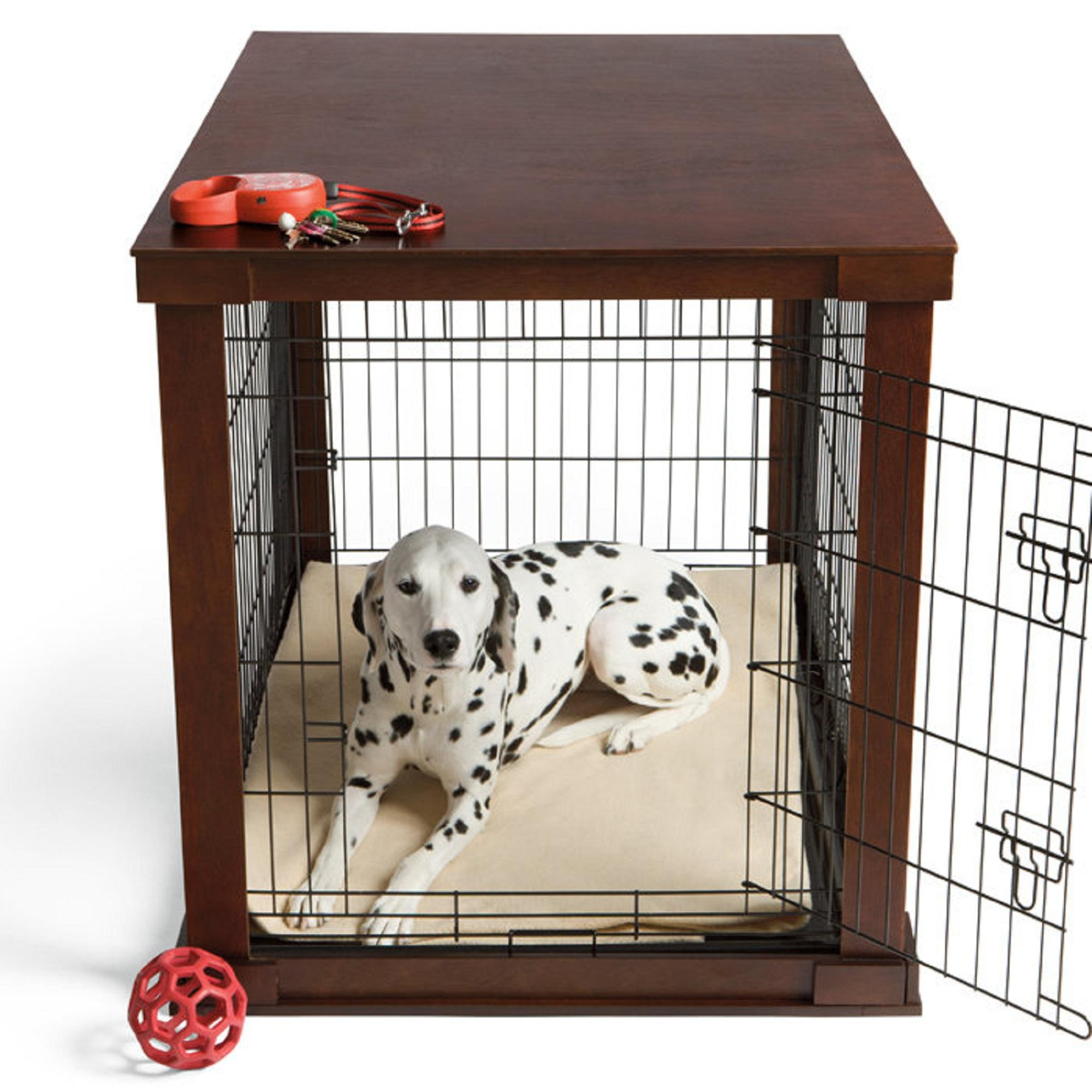 Zoovilla medium white cage with crate cover amazoncouk for 2 dog crate furniture