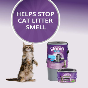 Litter Genie cat disposal easy clean up stop smell