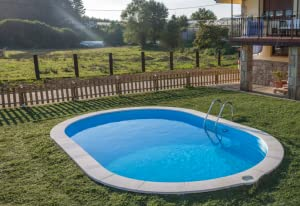 Gre Piscina Acero Oval Enterrar 600 x 320 x 120 cm: Amazon.es ...