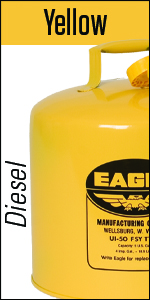 Yellow Safety Can Eagle steel Diesel fuel funnel