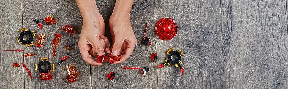 ninja, spinner, LEGO