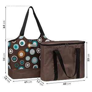 anndora 2 in 1 Kühltasche und Shopper