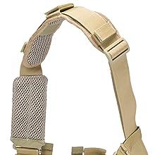 Padded, adjustable shoulder strap