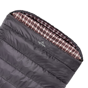 Cuddle Up in the Mammoth Double Sleeping Bag by TETON Sports. It's perfect for couples and families.