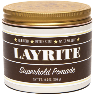 Layrite Superhold Pomade Gel Clay Wax Water soluble Easy Classic Fresh Hair Care Salon Rockabilly