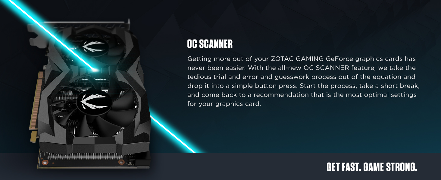 ZOTAC GAMING GEFORCE GTX 1660 Ti Series Graphics Cards OC Scanner