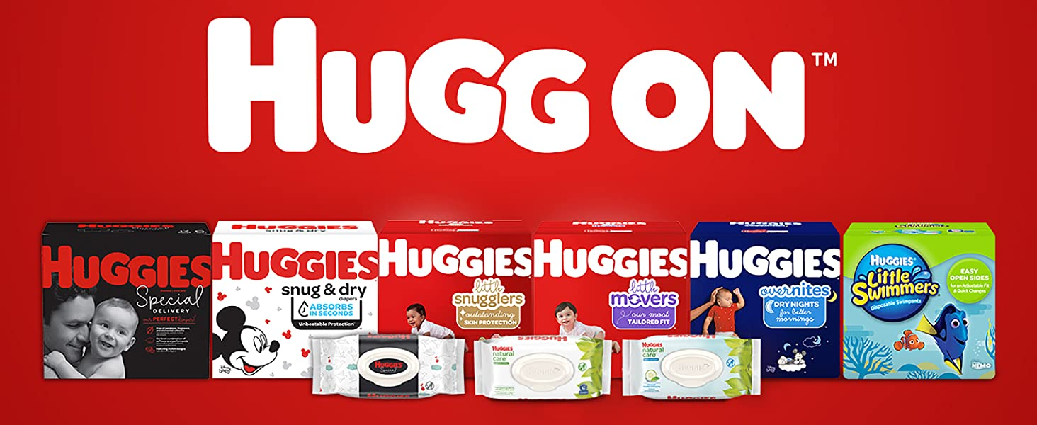 Huggies OverNites Baby Diapers plus Huggies Wipes and Active Baby Diapers