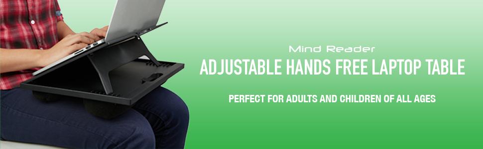 Adjustable laptop desk, portable laptop desk, laptop table