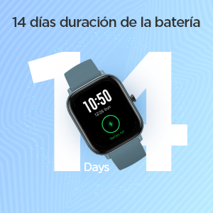 14 días de duración de la batería