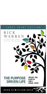 purpose, PDL, Rick Warren, Purpose Driven Life, life, identity, large print