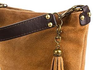 FIRENZE ARTEGIANI Sac à main femme en cuir authentique. Véritable sac à main femme en cuir GAMUZA. Doux au toucher Made in ITALY. Vera pelle italiana. 32x25x18 cm. Couleur: CUIR Okrf7K3lB