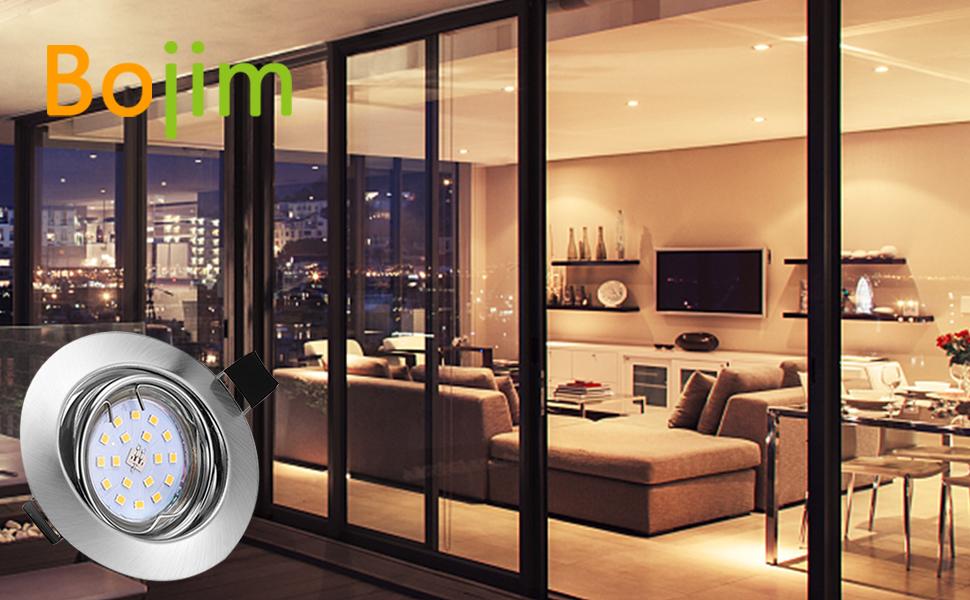 Orientable 6x Lampe Bojim Led Encastrables Plafond Gu10 De Spots J3TKuF1lc