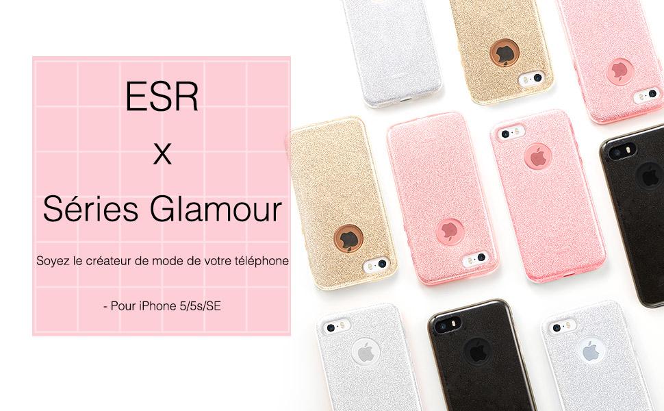 Coque iPhone SE Rose, ESR iPhone 5s / 5 / SE Coque Silicone ...