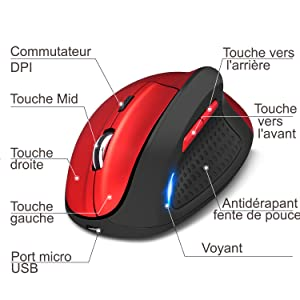 souris verticale rechargeable