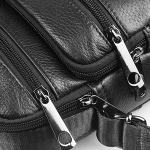 79c69cb1ee3 SPAHER Homme IPAD Sac porté épaule En Cuir Besaces Grand Sac à dos Sac de Messager  Porte-documents