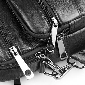 a0da8b06b40 SPAHER Homme IPAD Sac porté épaule En Cuir Besaces Grand Sac à dos Messager  Porte-documents à l épaule