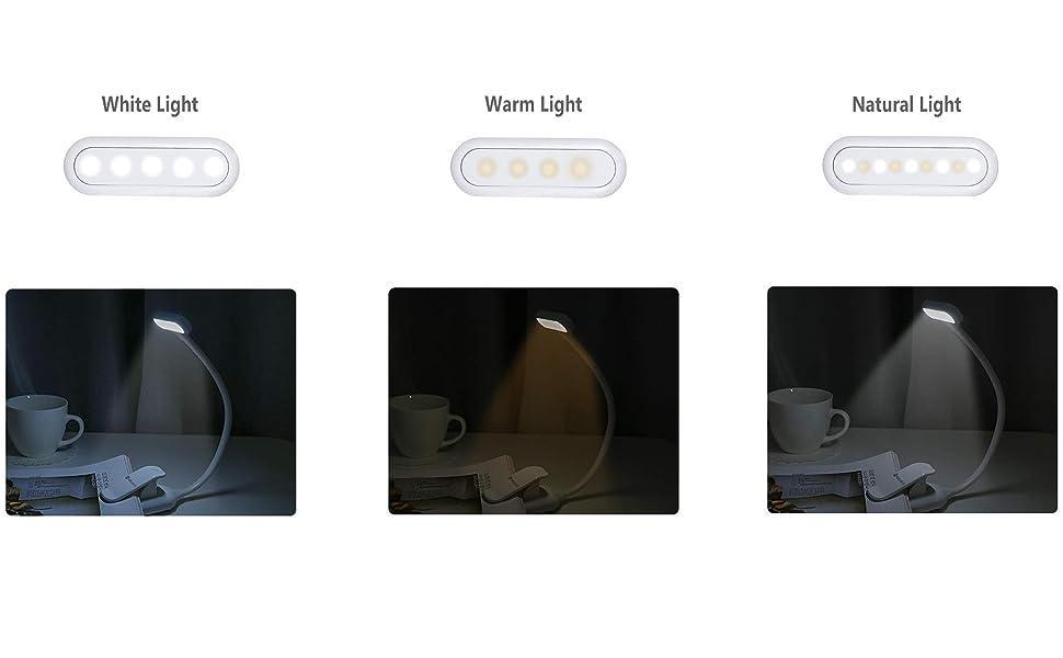 YeuxRechargeable 9 3 Lecture Light Usb Book Chaud Par Avec Luminosité Les À DelPince Lampe Et Pour De Modes BlancDel TlK31cFJ