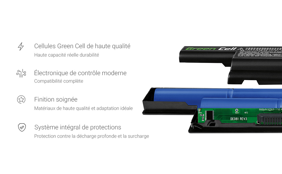 Green Cell/® Standard Series A32-F82 A32-F52 Battery for Asus K40 K40iJ K50AD K50AF K50iD K50iE K50iL K50iP K70AB X5DC X70 Laptop 6 Cells 4400mAh 10.8V Black