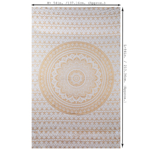 Tenture Murale Hippie Or Mandala Tapisserie Mural Ombre Tapestry