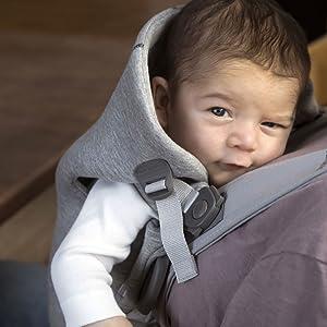 Porte-bébé Mini BABYBJÖRN, 3D Jersey, Bleu