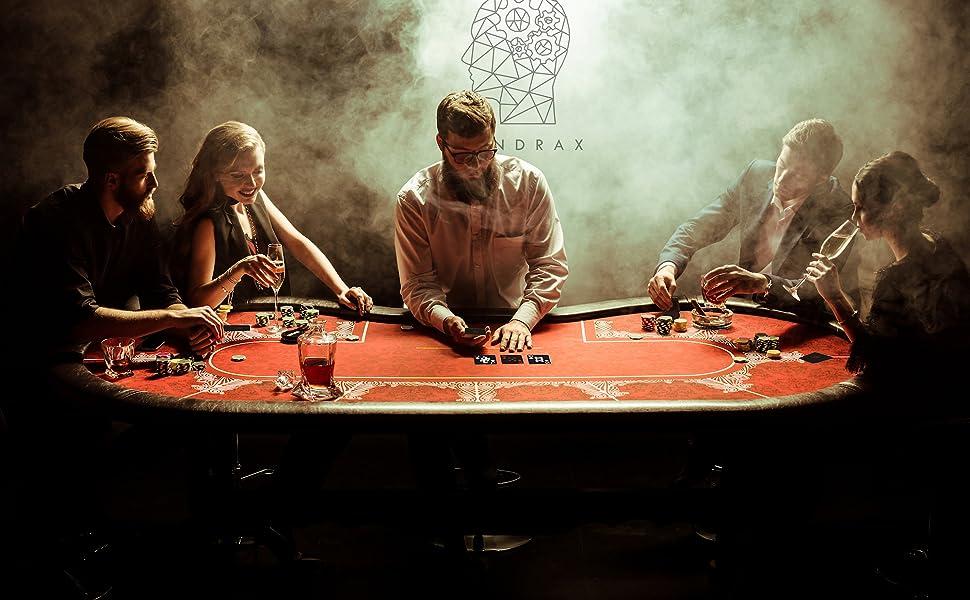 Mindrax Cartes /à Jouer Premium Cartes de Poker Professionnelles imperm/éables 100 /% Plastique num/éro XXL