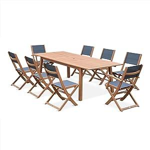 Eucalyptus Chaise ou de table-sélection-bois chaise pliante table pliante table de jardin