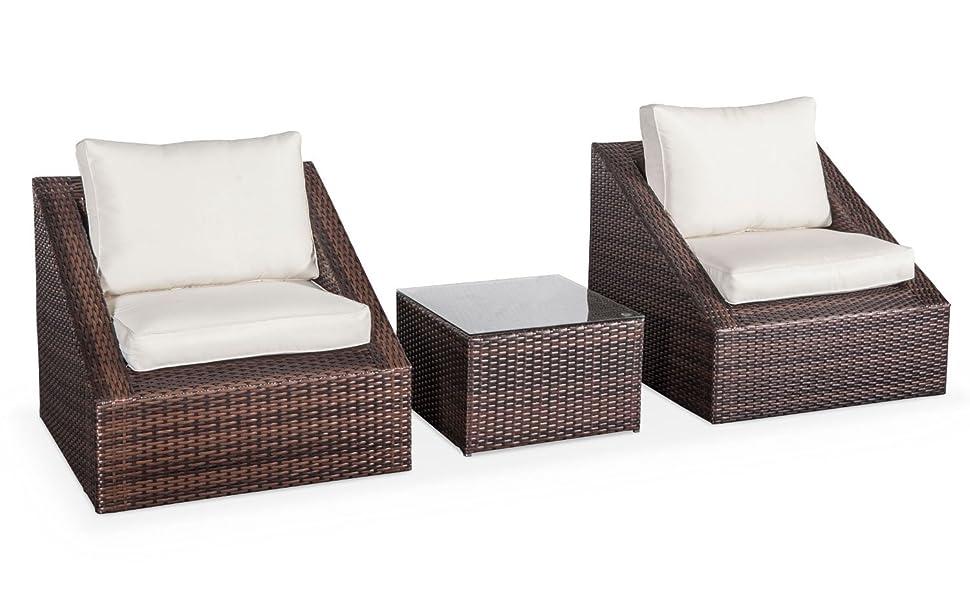 de Chocolat tressée2 Garden jardin Ensemble table Triangolo éléments Résine Alice's fauteuils1 basseempilable 3 29EeDIYWH