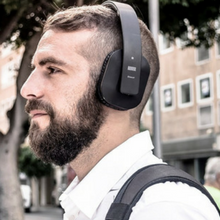 casque bluetooth noire august ep650 urban style