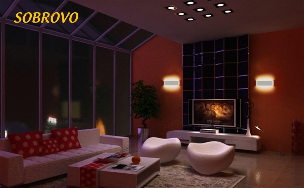 Led applique murale w haute lumineuse applique murale intérieure