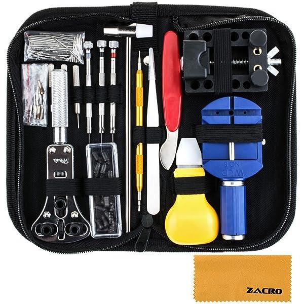 zacro 147 pcs kits de r paration outils professionnels pour montre montres. Black Bedroom Furniture Sets. Home Design Ideas