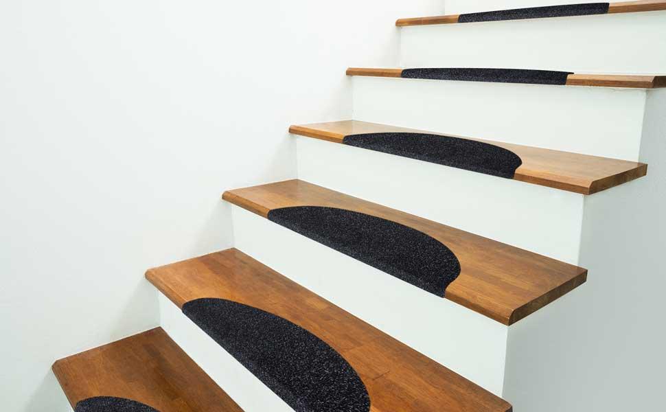 Etm Set De 15 Marchettes D Escalier Surface Confortable Et Antiderapante Taille 23x65cm Couleurs Diverses Beige