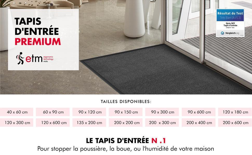 tapis tapie tapi paillasson paillason payason d'entrée entree de porte interieur exterieur sol noir