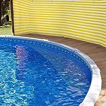 toile brise vue pour exterieur piscine jardin balcon